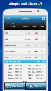 Stock Market Technical Analysis App for NSE Screenshot