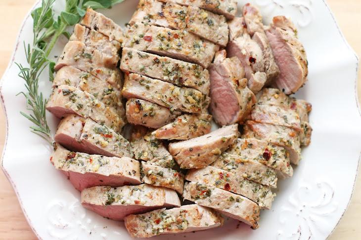 Garlic Herb Rubbed Pork Tenderloin