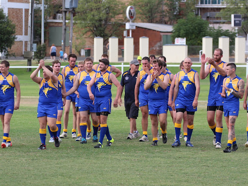The Narrabri side after it downed the Tamworth Swans at Leitch Oval in April.