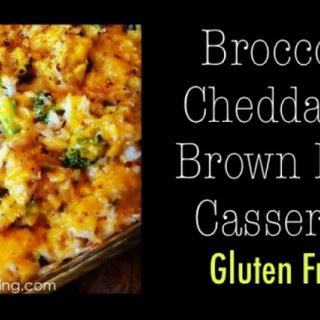 Broccoli, Cheddar & Brown Rice Casserole (Gluten Free)