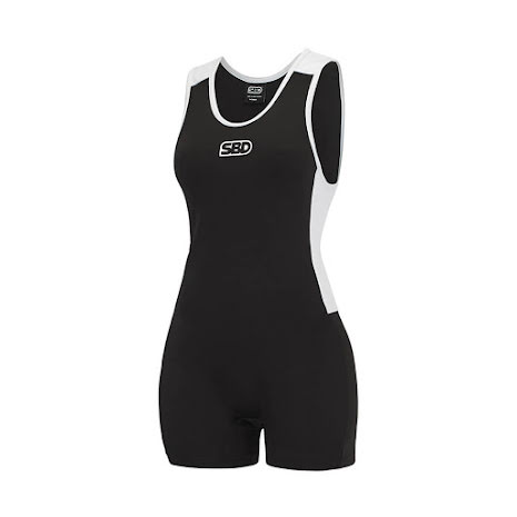 SBD Singlet Women Black & White - Large