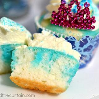 Blueberry Jello Poke Cupcakes
