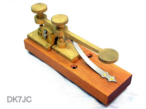 "Photo: Alfred Vail´s  ""Lever Correspondent"" Key 1844 - Reproduction von Kent Engineers UK  ""W""  #344"