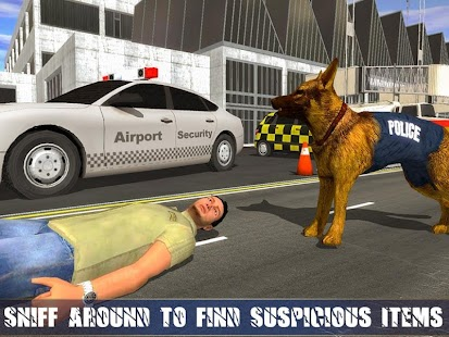 2 Police Dog Airport Crime Chase App screenshot