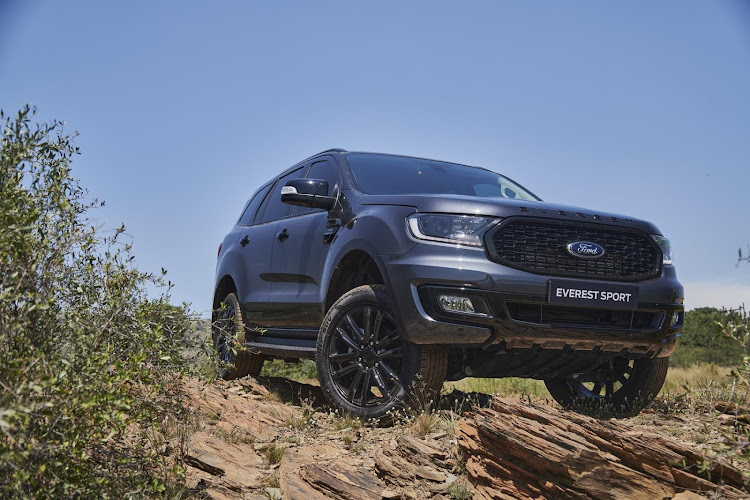 A black mesh grille and 20-inch alloy wheels are just some of the exterior upgrades of the new Everest Sport.