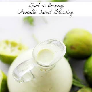 Light and Creamy Avocado-Lime Salad Dressing.