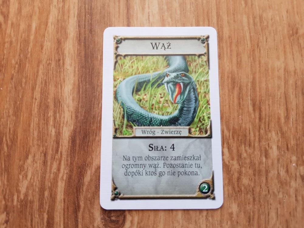 Talisman - wąż karta przygód