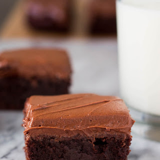 Fudge Brownies with Cream Cheese Frosting.