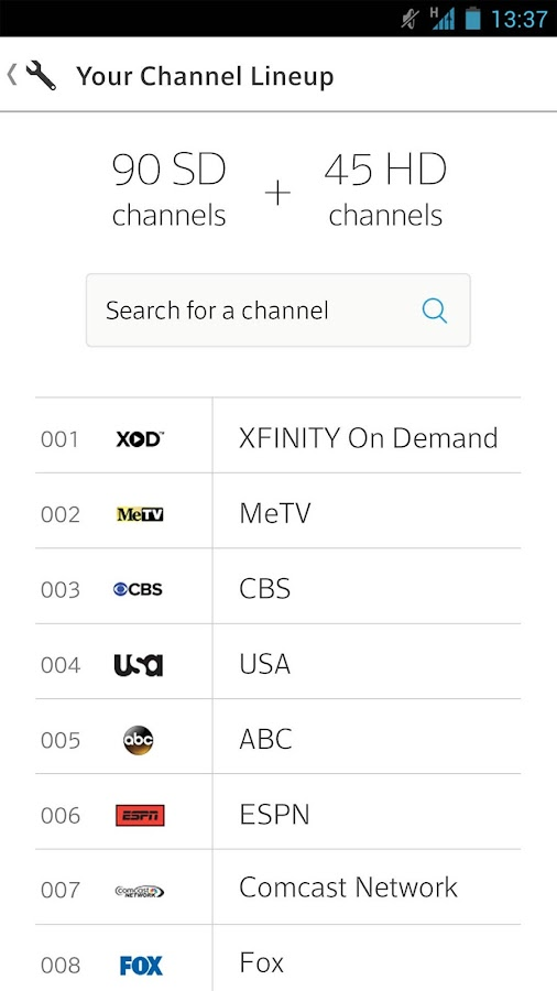 XFINITY My Account- screenshot
