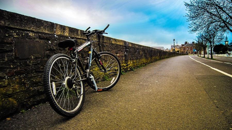 Lonely Bicycle by Sami Ashiqur Rahman - Transportation Bicycles ( sky, biycle, street, devon, landscape )