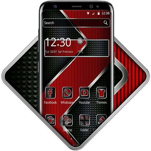 Red Luxury Metal Theme