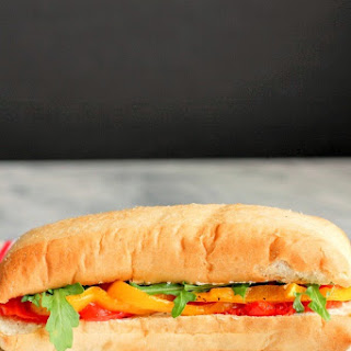 Roasted Vegetable & Goat Cheese Sandwich