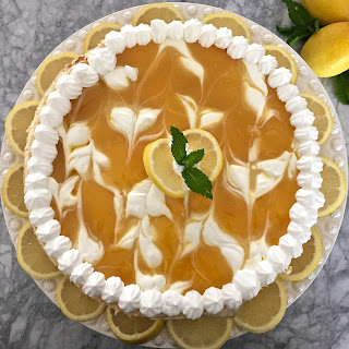 Luscious Lemon Swirl Cheesecake