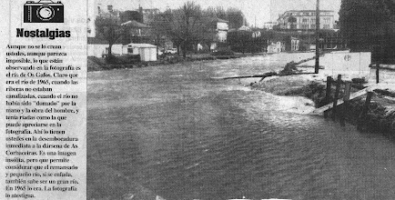 Photo: O rio Gafos nunha enchente nas Corbaceiras
