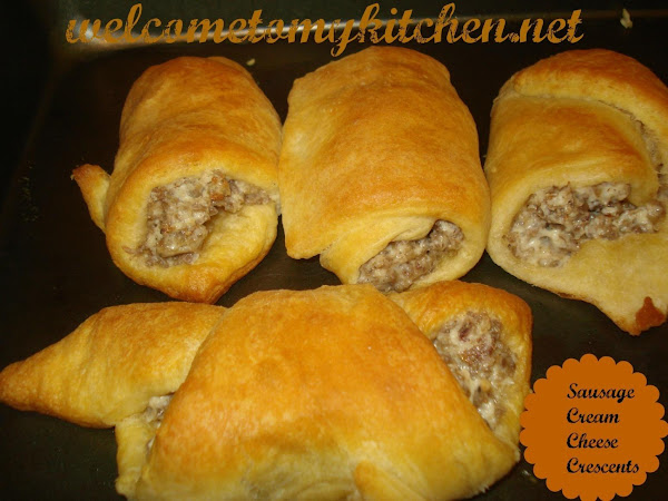 Sausage Cream Cheese Crescents Recipe