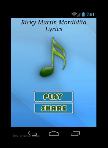 Ricky Martin Mordidita Lyrics
