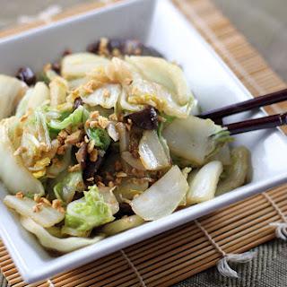 Stir Fried Chinese Cabbage and Shiitake Mushrooms Recipe