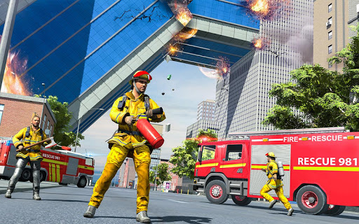 City Fire Fighter Airplane 911 Rescue Heroes  screenshots 6
