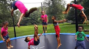 Kids Jumping Trampoline Challenge Family Fun Playtime with Imani ...