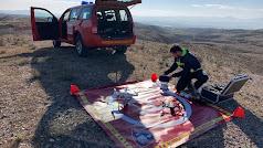 Bomberos de Levante se ha sumado a los trabajos de búsqueda para dar con Francisco Martínez.