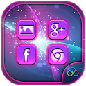 Purple Neon Launcher Theme icon