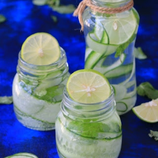 Cucumber Lemon And Mint Water.