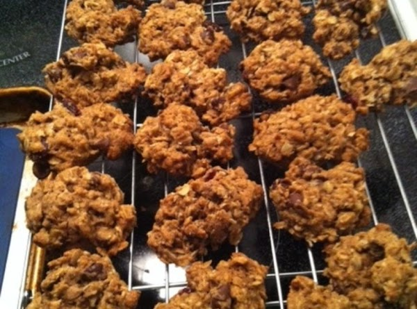 Slowly add in flour mixture, just until combined. Fold in chocolate chips and dried...