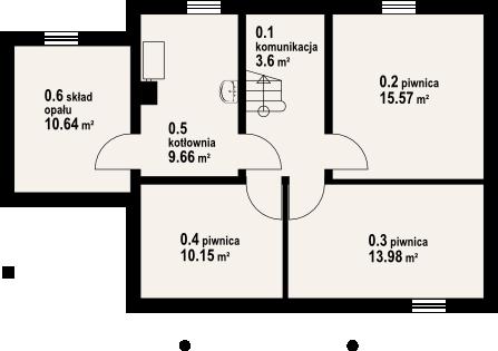 Oleśnica 9 - Rzut piwnicy