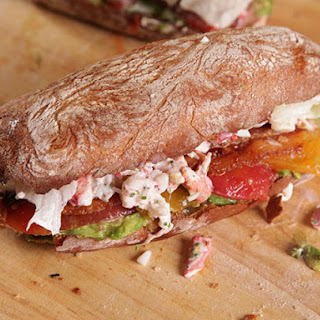 The Ultimate Lobster, Bacon, Lettuce, Avocado, and Tomato Sandwiches