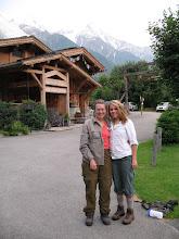 Photo: We met Heidi in Chamonix!  Hadn't seen her since January!