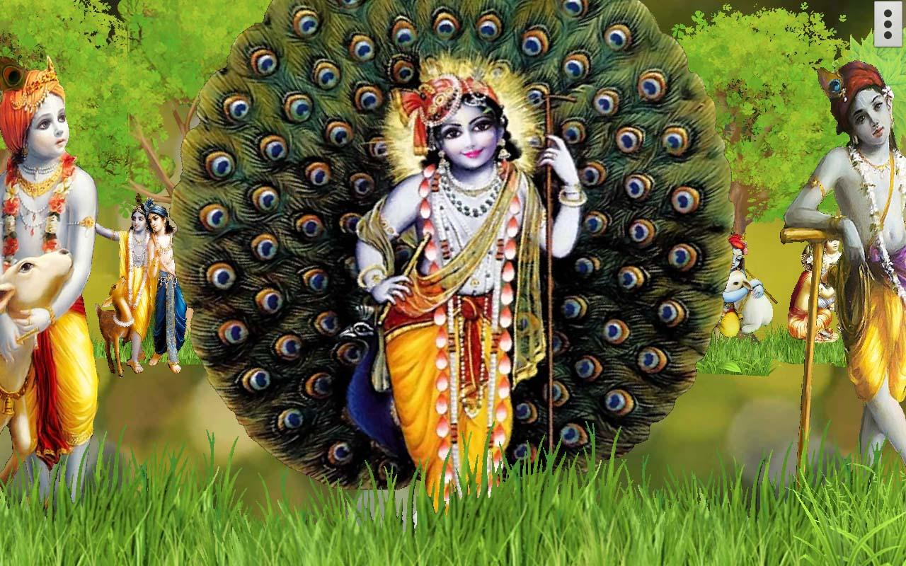 Wallpaper download krishna - 4d Krishna Live Wallpaper Screenshot
