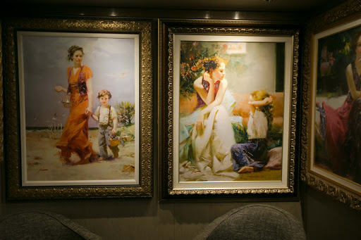 Thomas-Kinkade-artworks.jpg - Thomas Kinkade artworks on Holland America's ms Oosterdam.