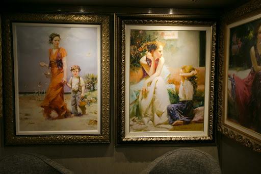 Thomas Kinkade artworks on Holland America's ms Oosterdam.