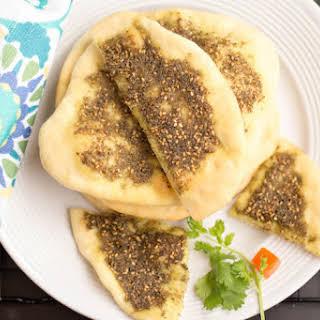 Zaatar Pita Bread   Manakish Za'atar Bread.