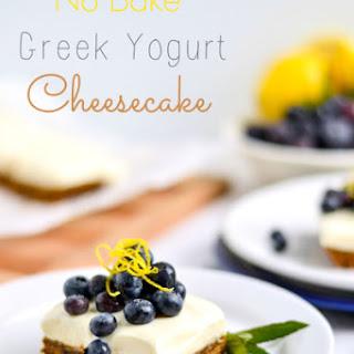 No Bake Greek Yogurt Cheesecake(Without Gelatin!).