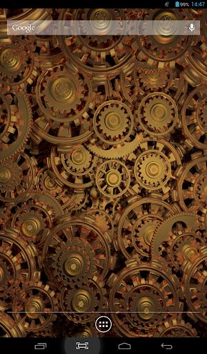 Golden Gears 2 Live Wallpaper screenshot