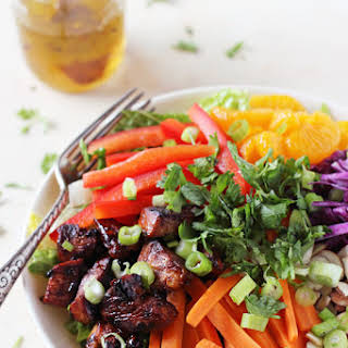 Chopped Asian Chicken Salad with Sweet & Sour Dressing.