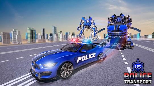 US Police Robot Transform – Police Plane Transport 5