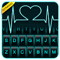 Neon Heart Love Keyboard Theme icon