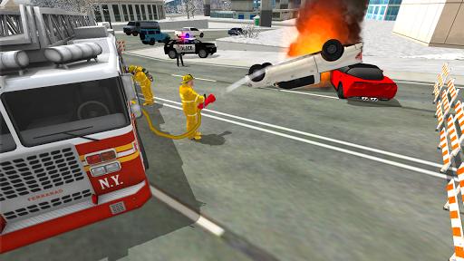 Fire Truck Rescue Simulator  screenshots 2