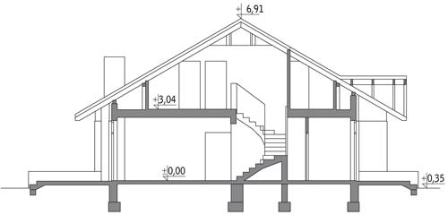 Dom dla Ciebie - wariant I - M14a - Przekrój