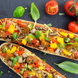 Vegan French Bread Pizza
