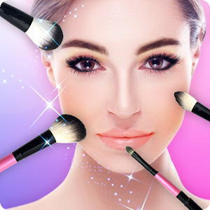 Le grand éditeur photo maquillage que you makeup sur 1 grille photo&selfie candy APK Icon