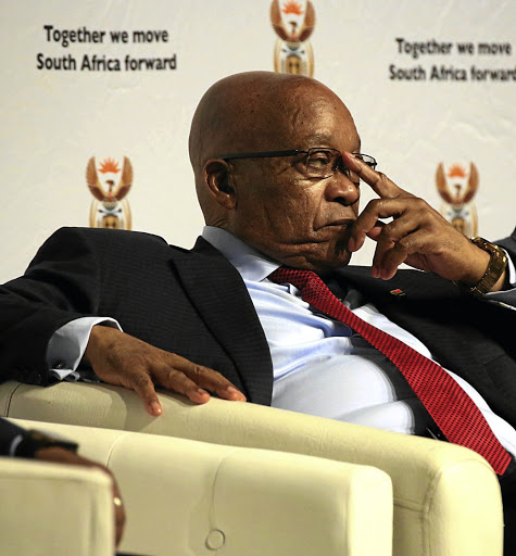 President Jacob Zuma addressed a meeting of ANC provincial chairmen and secretaries at Luthuli House on Monday./ THULI DLAMINI