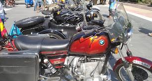 Algunos de los modelos que se han podido ver hoy en la exposición de motos antiguas