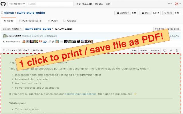 GitHub Printer