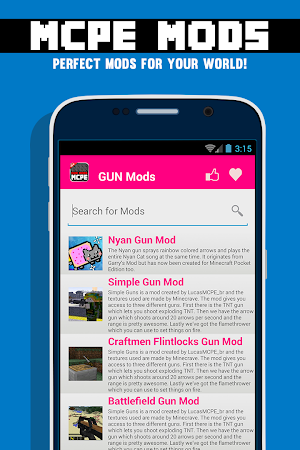 GUN MODS FOR MCPE 1.4.2 screenshot 638870