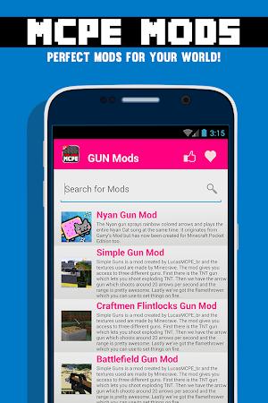 GUN MODS FOR MCPE 1.4.2 screenshot 638870
