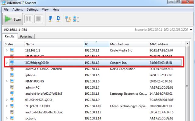 SỬ DỤNG PHẦN MỀM Advanced IP Scanner ĐỂ TÌM CAMERA IP