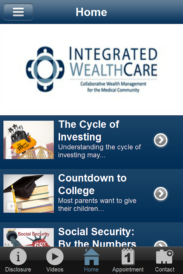 Integrated Wealth Care- screenshot